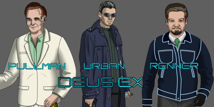 Deus Ex Movie Poster (and fantasy cast) by Lilgreenmen