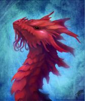 Coral dragon head by Neboveria