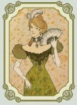 Victorian Lady in Green by Velven