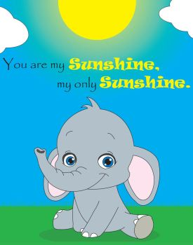 Sunshine Elephant 11x14 by Mythrylman