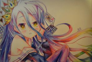 Shiro - No Game No Life (Drawing) by MackyAsyram