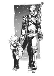 Sketchdump - Father and daughter by EMP-83