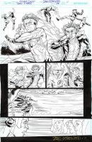 TEEN TITANS #100 KID FLASH vs. INERTIA Duel Page! by DRHazlewood