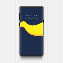 [WIP] Galaxy Note 9 PSD Template by BenSow