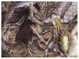 The Witch King before Eowyn by peet