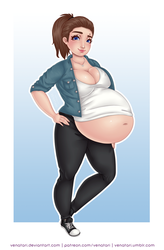 Commission | Pregs87 Casual by Venatari