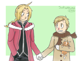 Winter Elric Bros by Sofiakkuma