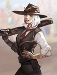 Ashe (Overwatch fanart) by MINIMICONCEPT