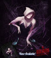 Web of Spider-Gwen by ninjaink