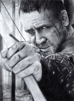 Russel Crowe Portrait by bibivz