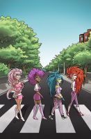 Jem and The Holograms Hit Abbey Road by BillWalko