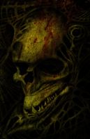 Skull Dark Art by kayden7