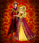 [ One Piece ] Luffy and Leena Royalty by Laefey