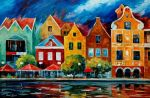 Riverfront by Leonid Afremov by Leonidafremov