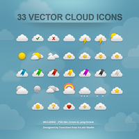 Clouds Icons by Tooschee
