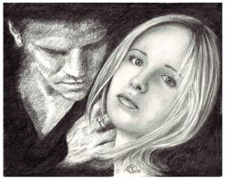 Buffy and Angel by ktalbot