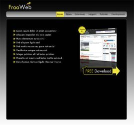 Software Company Website PSD by frooweb