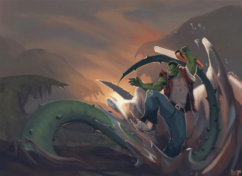 Swamp Attack by Enydimon