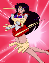 Sailor Mars - Sticky Dough Attack by burnup19