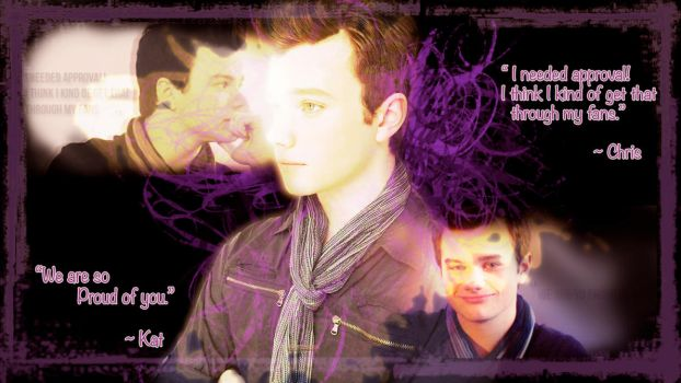 Chris Colfer Wallpaper for Kat-nyan by Nanobear