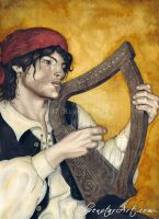 Enchanted Melodies: Harp by ElvenstarArt