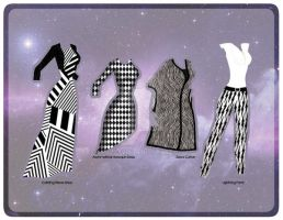 Black and White Tour Outfits [Magnetic] by razzysri
