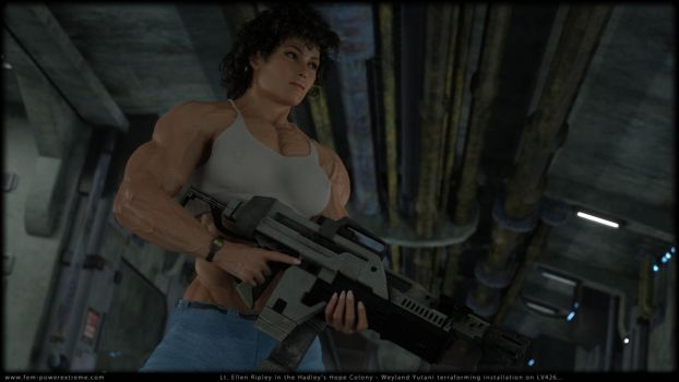 Lt. E Ripley in action... by Tigersan