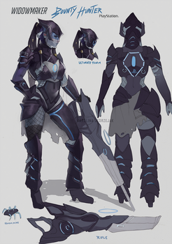 Widowmaker Bounty Hunter skin by RinRinDaishi