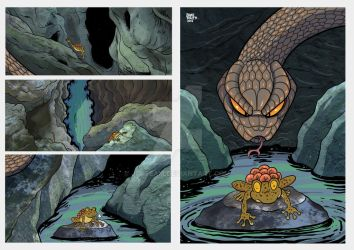 Comic Sample  The Toad and the Snake 1 by JFRteam