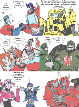 TF - Countdown to TFP season 2 crossovers 1-6 by Rosey-Raven
