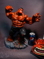 RED HULK  PAINTED by ZKULPTOR