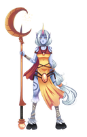 Soraka - LoL Collab by HatterMadness