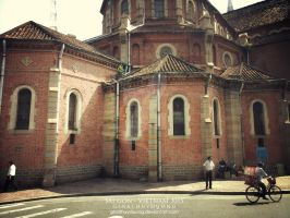 A corner of Duc Ba Cathedral - SaiGon - VietNam by ginathuyduong