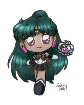 Pretty Guardian Sailor Pluto by sakkysa