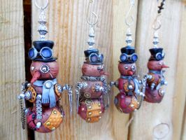 Steampunk Snowman Ornaments by MarilynMorrison