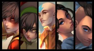 Team Avatar - Preview by SushiyamaArt