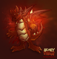 Volcano draggy monster by Dragostrosity
