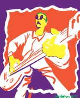 Andy Partridge of XTC - Daily Drawing 1 by SuperRetroBoy