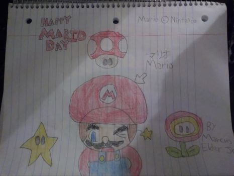 Happy Mario Day featuring Mario by marcusderjr