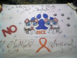 pancarta NO AL MALTRATO ANIMAL E.S. by lakyvaquero
