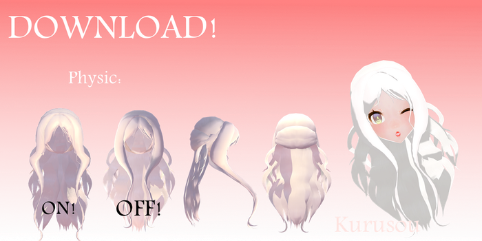 Download Cute Hair [ MMD] by Kurusou