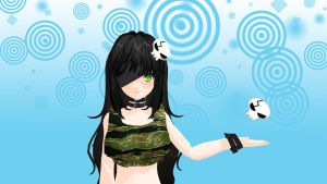MMD Skull acessory hair Download by 9844
