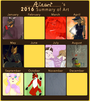 2016 summary of art by fernothedragon