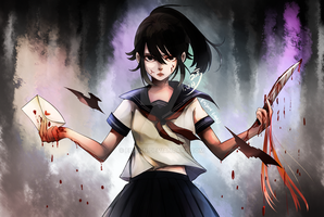 Happy Birthday Yandere Chan by eisjon