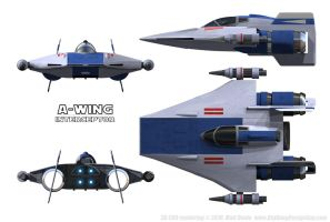 07 A-Wing Schematics by Ravendeviant