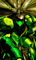 Green Samus by Downzero