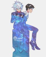 Kaworu and Shinji by THEJETTYJETSHOW