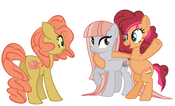 :Collab: Meeting the Pie cousins by BerryPunchrules