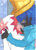 Black Mage + White Mage by cateye007