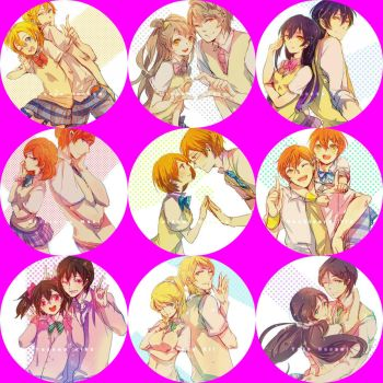 [Icon Distribution] Love Live X Genderbend Icons by MarryKozakura4th